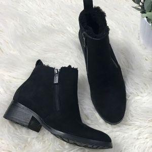 Cole Haan Black Suede Booties Size 7